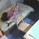 勉強手につかない妹のパジャマオナニー姿を隠し撮り