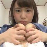 乳首舐めできる制服女子の自画撮りオナニー